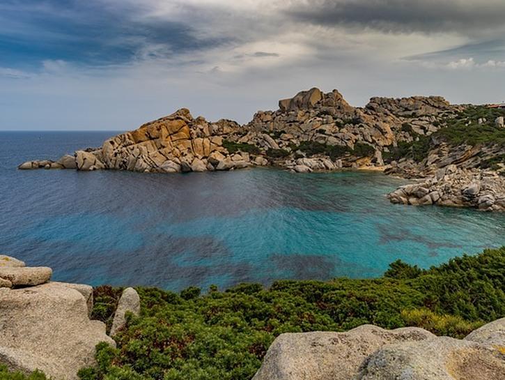 Bay on the coast of Sardinia