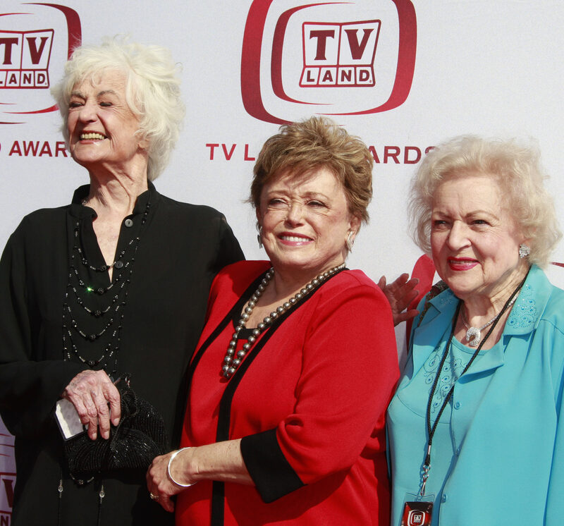 Bea Arthur, Rue McClanaghan and Betty White at TV Land awards