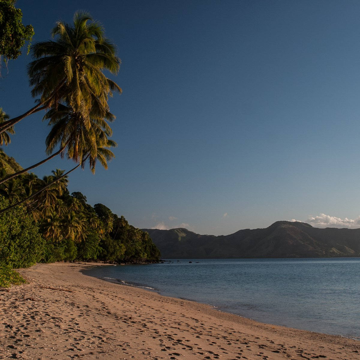 Beach on Kadavu Island, Fiji.