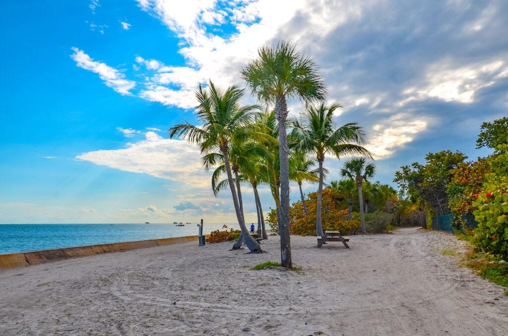 Beach views at Bill Braggs Cape Florida State Park.