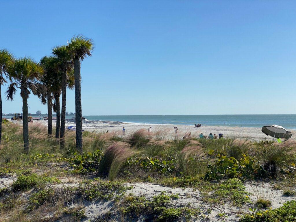 Beach views at Lido Key in Sarasota, Florida.