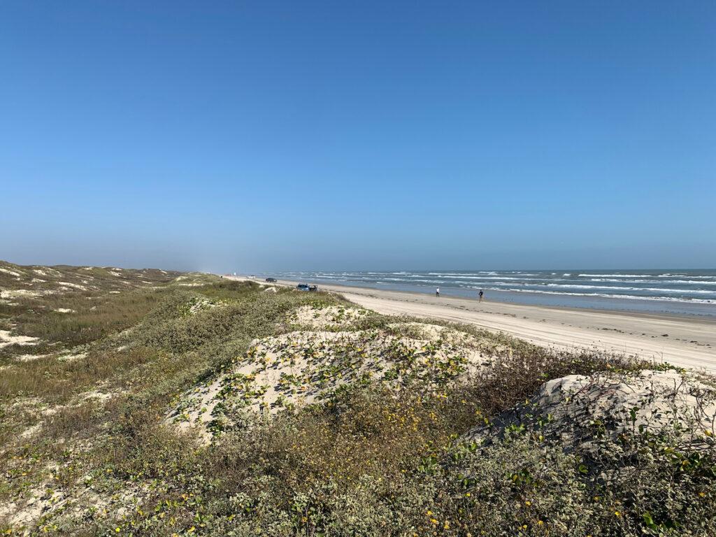 Beach views at Padre Island National Seashore in Texas.