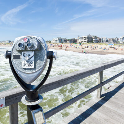 Beach views from the pier in Ocean Grove, New Jersey.