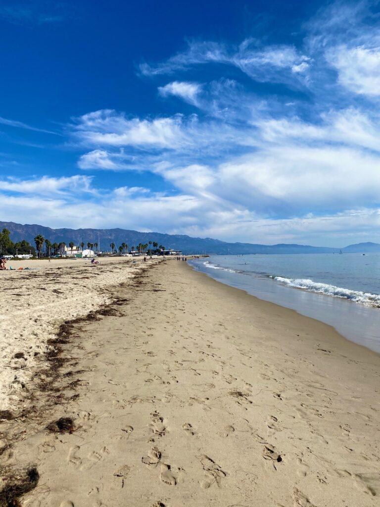 Beach views in California.