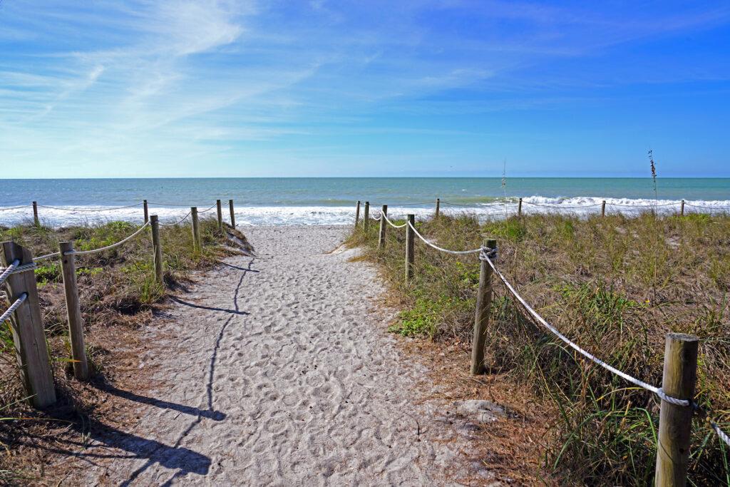 Beach views in Captiva Island, Florida.