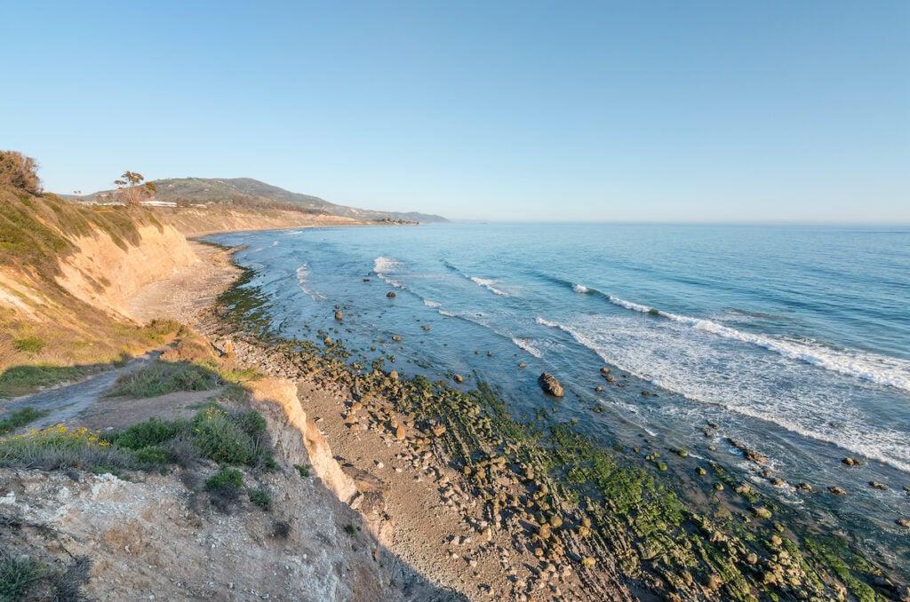 Beach views in Carpinteria, California.