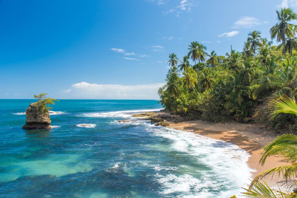 Beach views in Costa Rica.