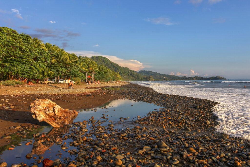 Beach views in Dominical, Costa Rica.