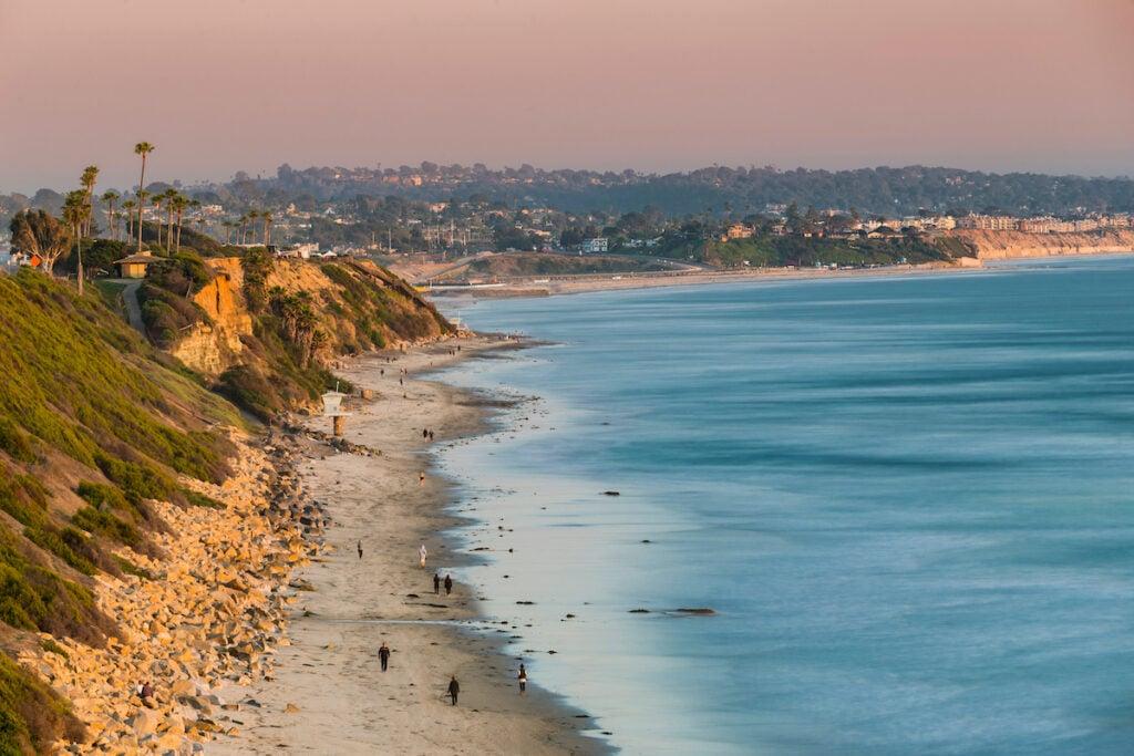 Beach views in Encinitas, California.
