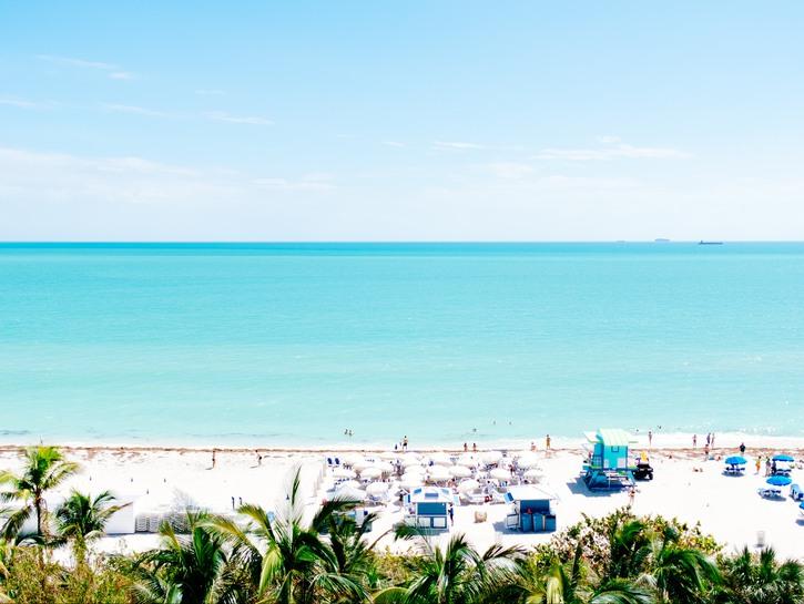 Beach views in Florida.