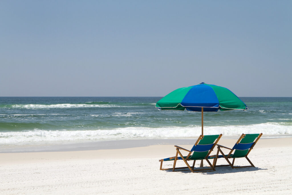 Beach views in Fort Walton Beach, Florida.