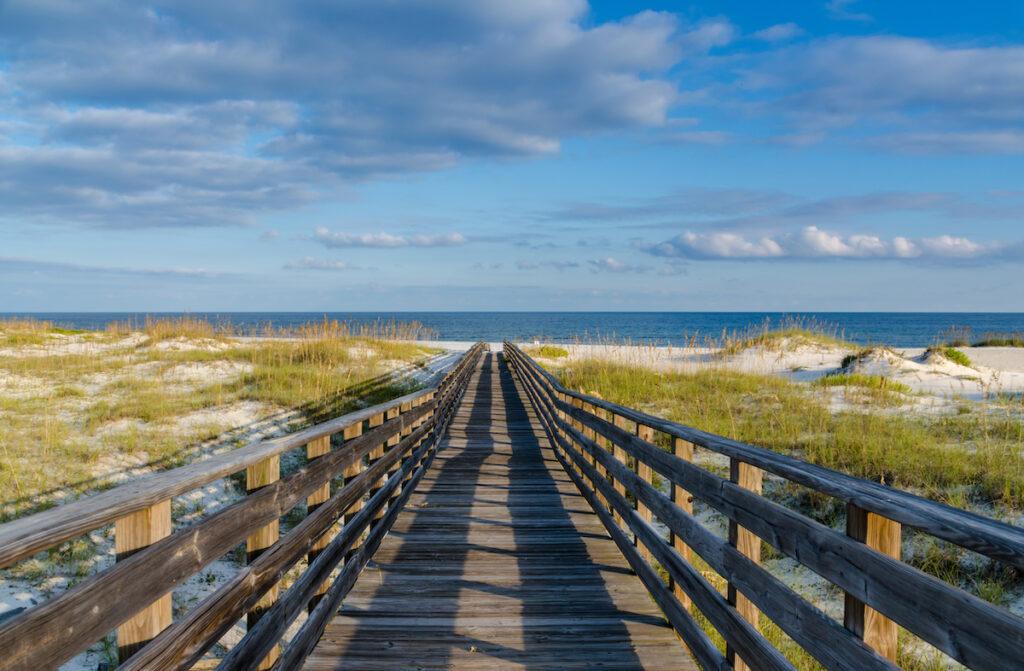 Beach views in Gulf Shores, Alabama.