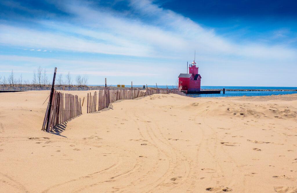 Beach views in Holland, Michigan.