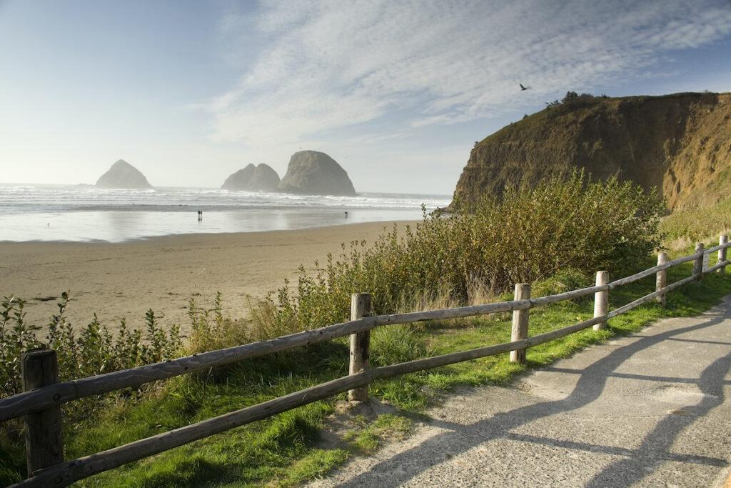 Beach views in Oceanside, Oregon.