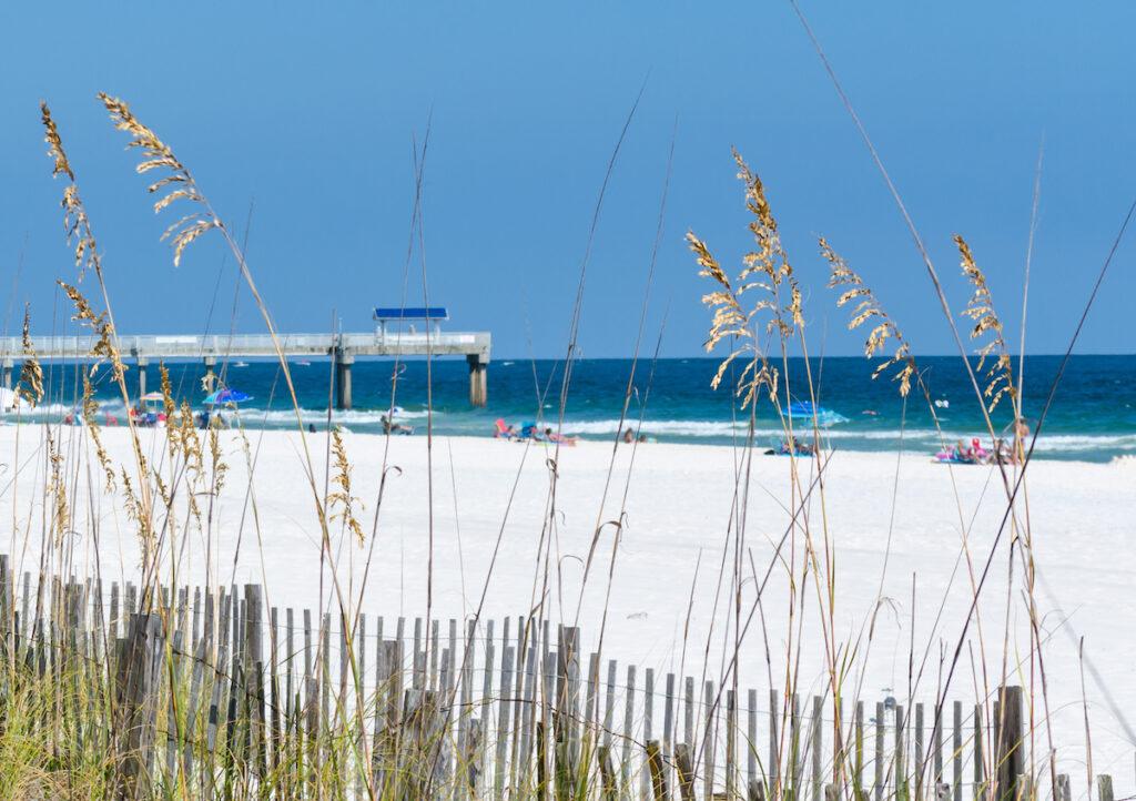 Beach views in Orange Beach, Alabama.