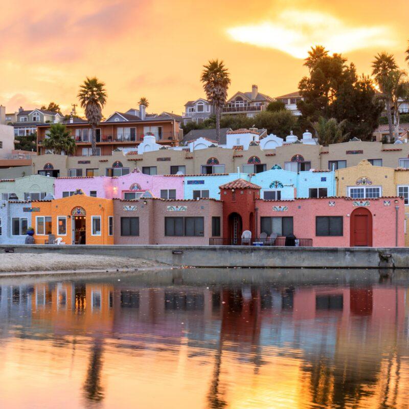 Beach views in quaint Capitola Village, California.