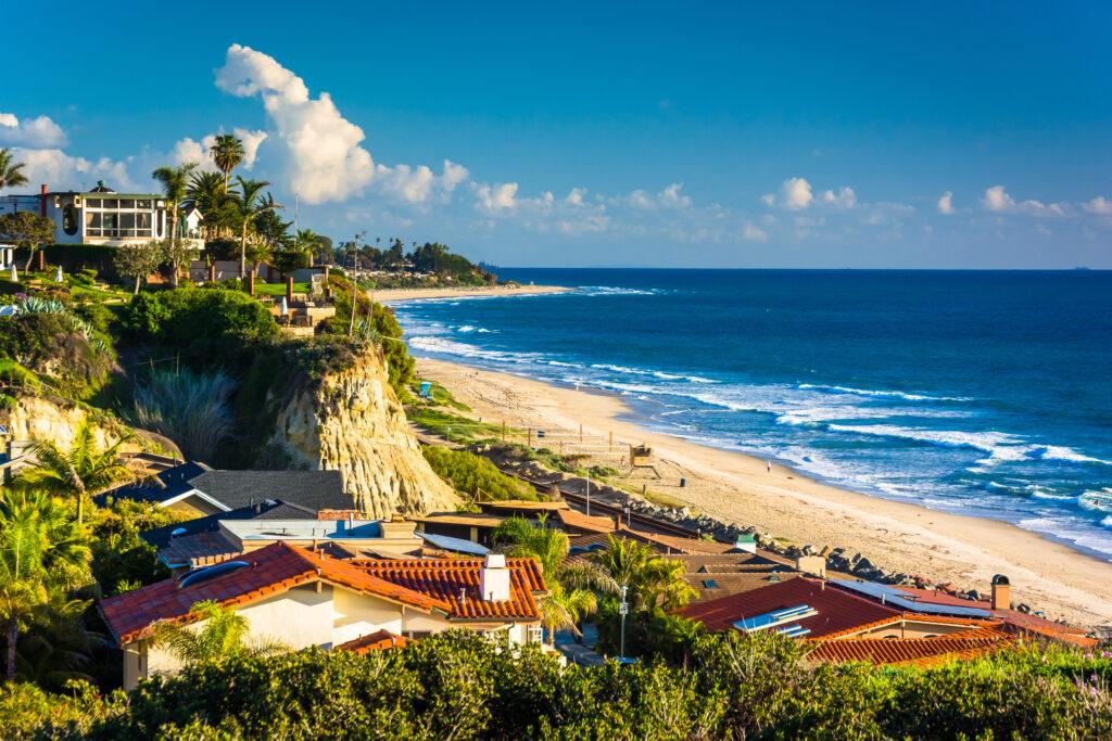 Beach views in San Clemente, California.