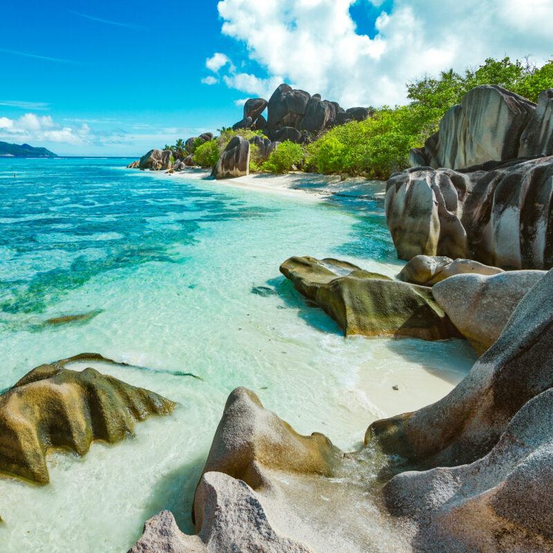 Beach views in the beautiful Seychelles.