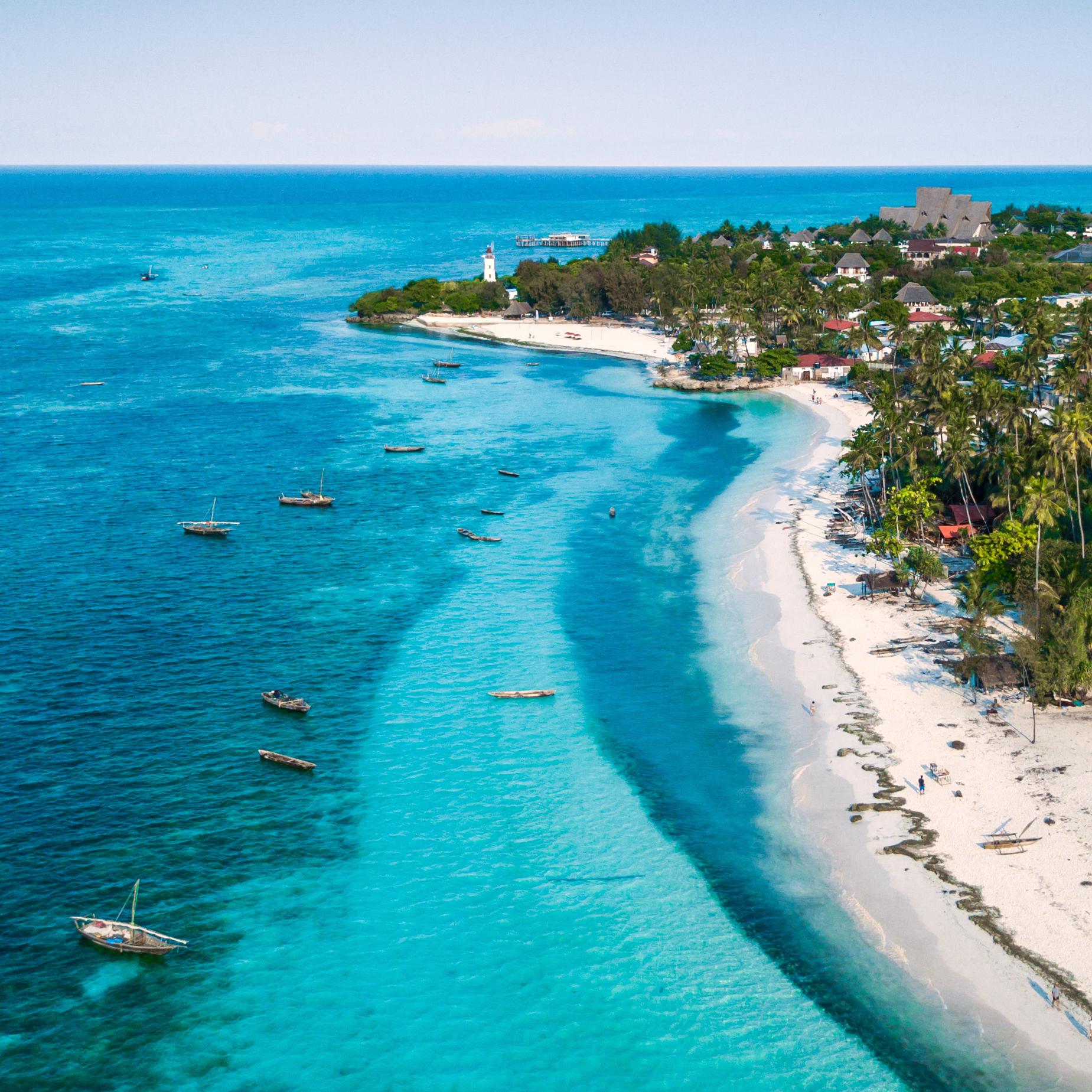 Beach views in Zanzibar.