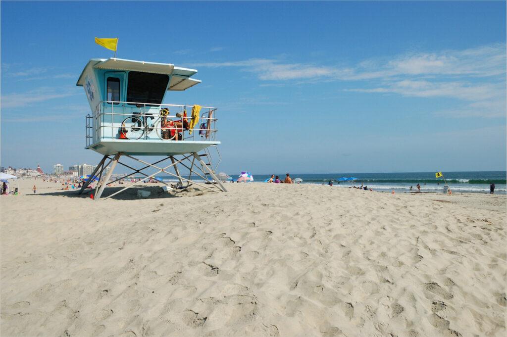 Beach views on Coronado Island in California.
