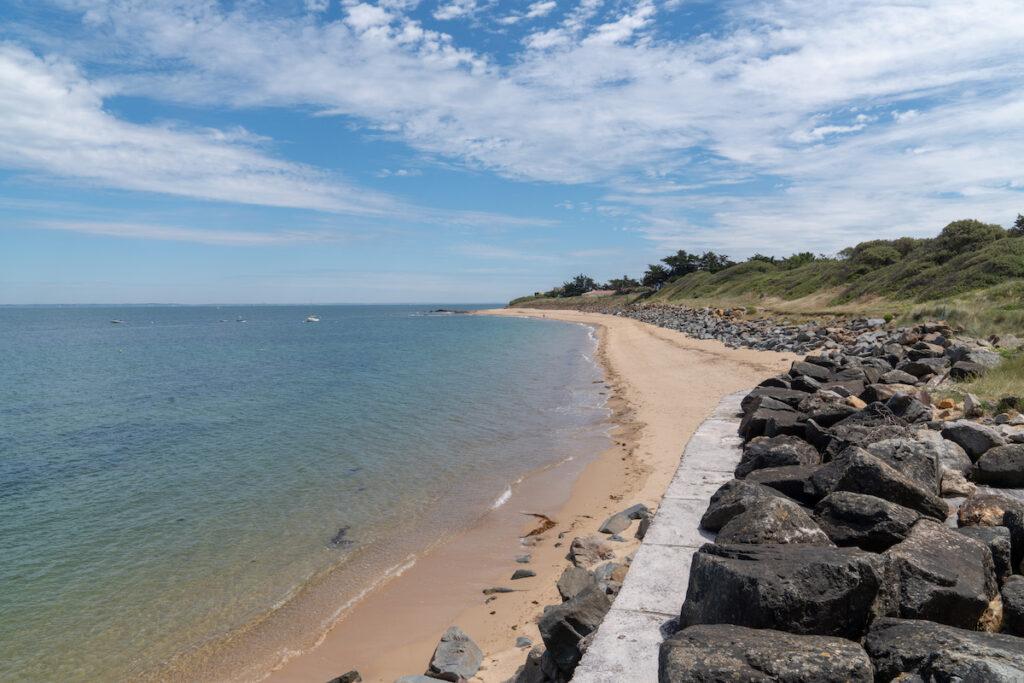 Beach views on Ile De Noirmoutier, an island in France.