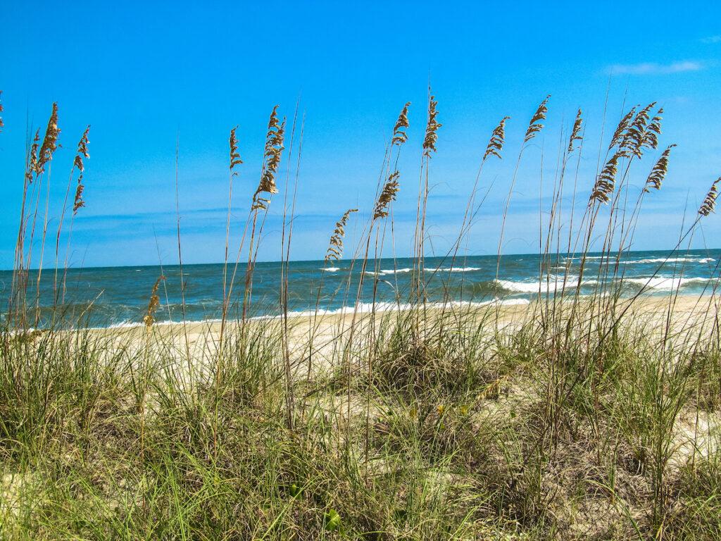 Beach views on Pawleys Island in South Carolina.