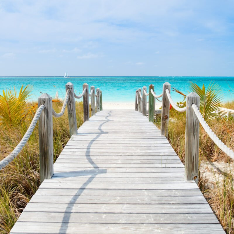 Beach views on Providenciales Island in the Turks and Caicos.