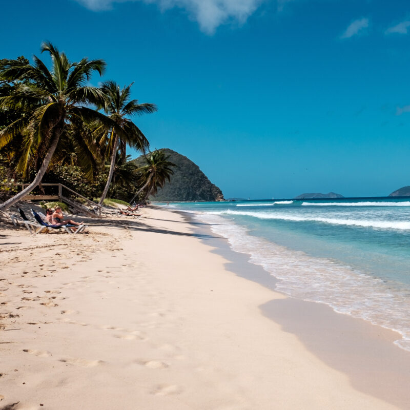 Beach views on Tortola in the British Virgin Islands.