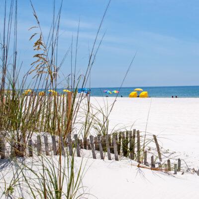 Beachgoers in Gulf Shores, Alabama.