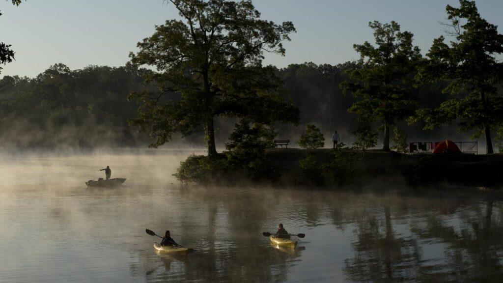 Bear Creek Lake in Arkansas.