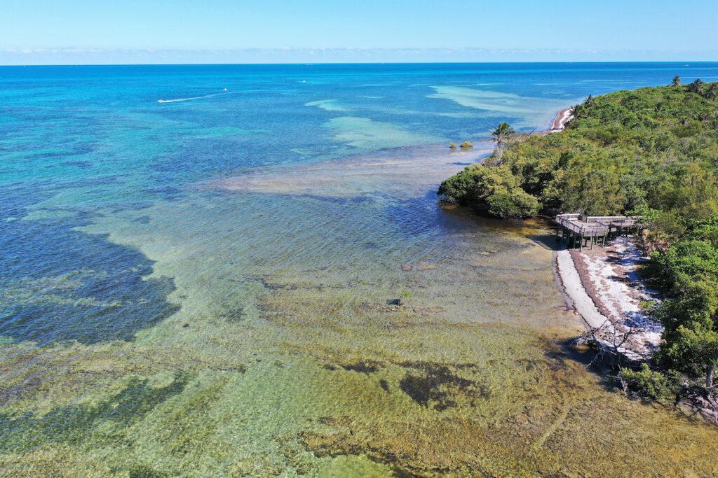 Bear Cut Marine Preserve in Key Biscayne, Florida.
