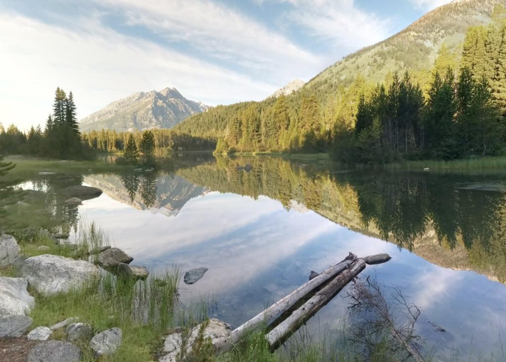 Bearpaw Lake in Moose, Wyoming.