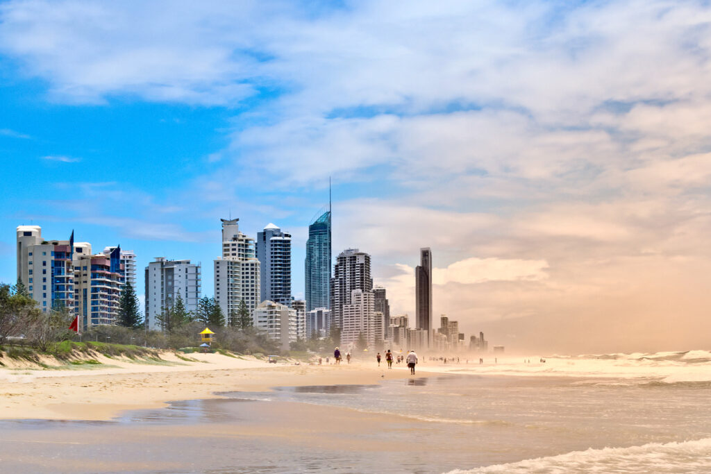 Beautiful beach views on Australia's Gold Coast.