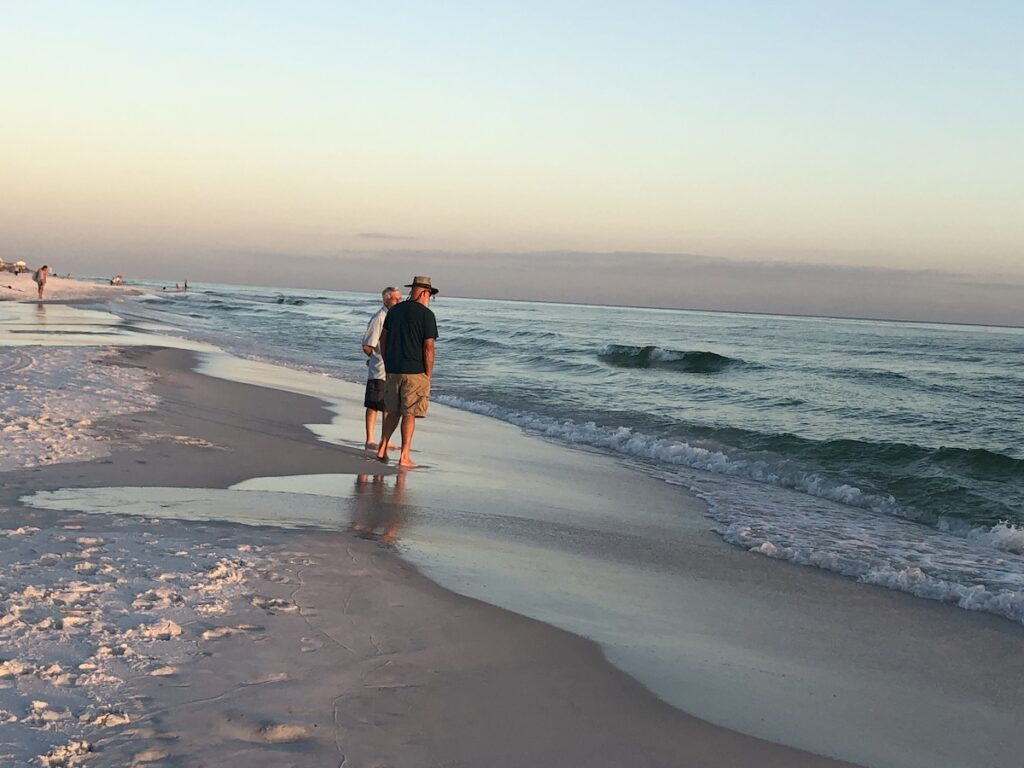 Beautiful beach views on the writer's trip.