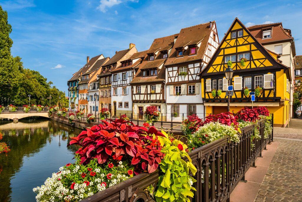 Beautiful buildings in Colmar, France.