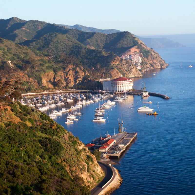 Beautiful Catalina Island in California.