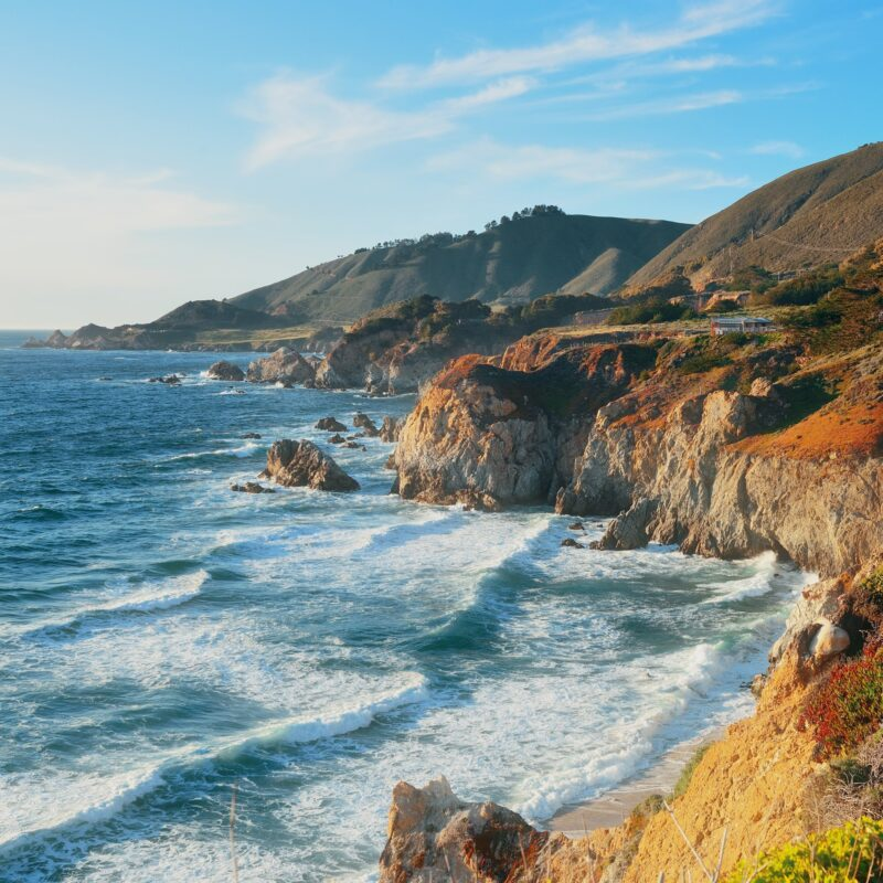 Beautiful coastal views in Big Sur, California.