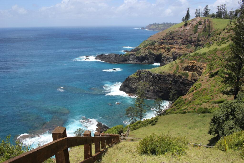 Beautiful coastline views on Norfolk Island.