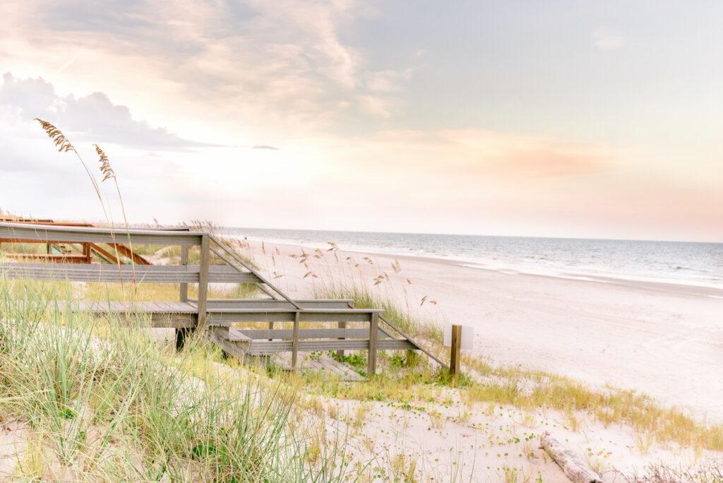 Beautiful Fernandina Beach in Florida.