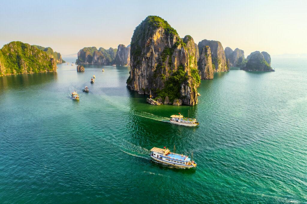 Beautiful Halong Bay in Vietnam.
