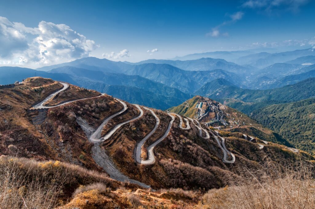 Beautiful landscape along Central Asia's Silk Road.