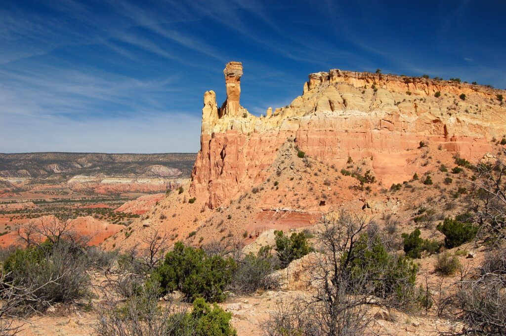 Beautiful landscape in Ghost Ranch, New Mexico.