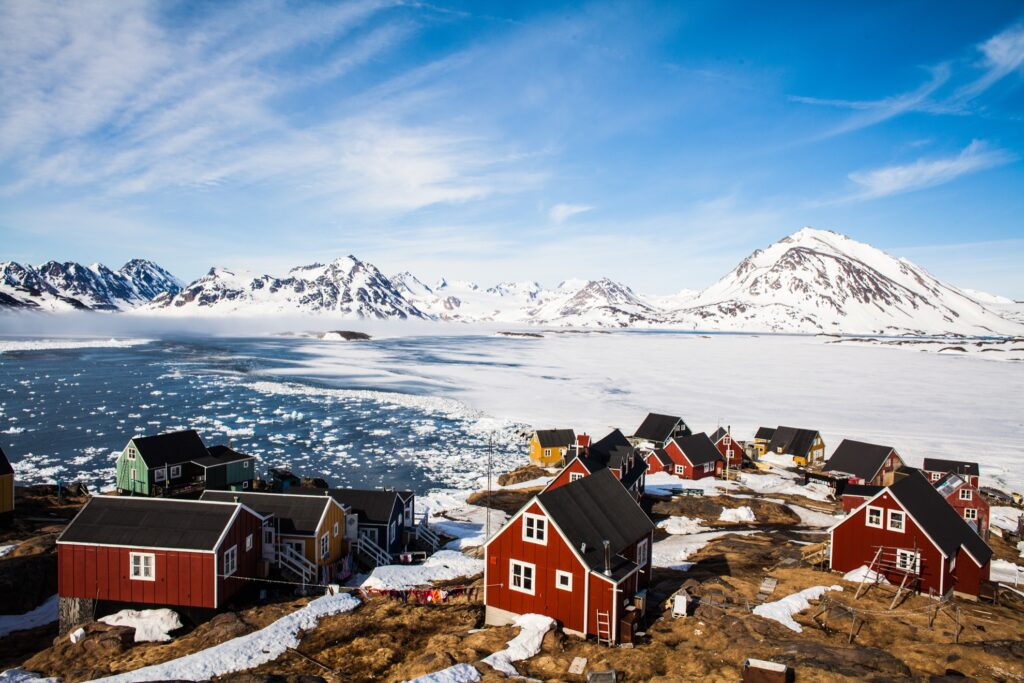 Beautiful landscape in Greenland.