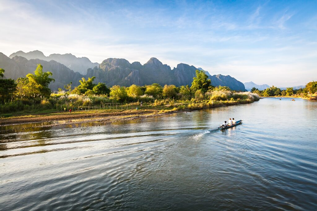Beautiful landscape in Laos.