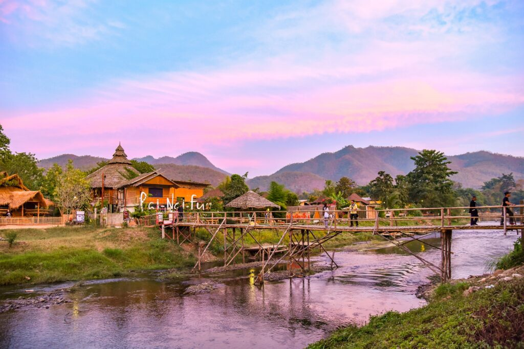 Beautiful landscape in Pai, Thailand.