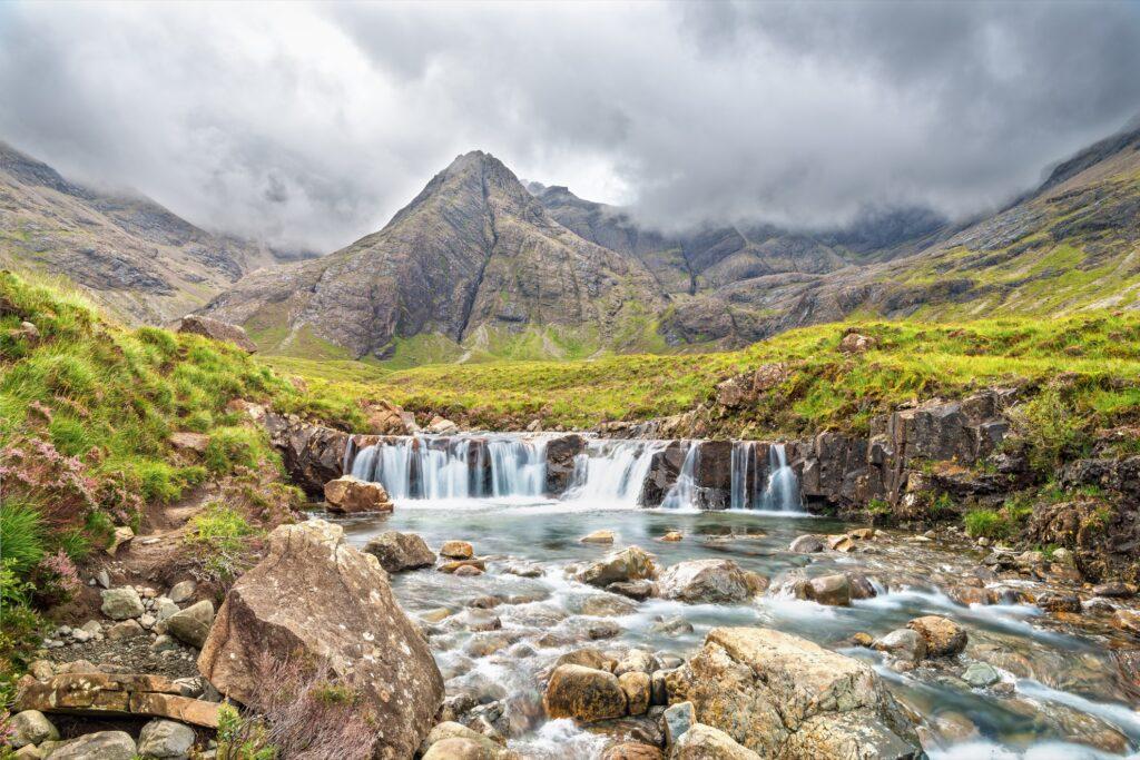 Beautiful landscape in the Fairy Glen.