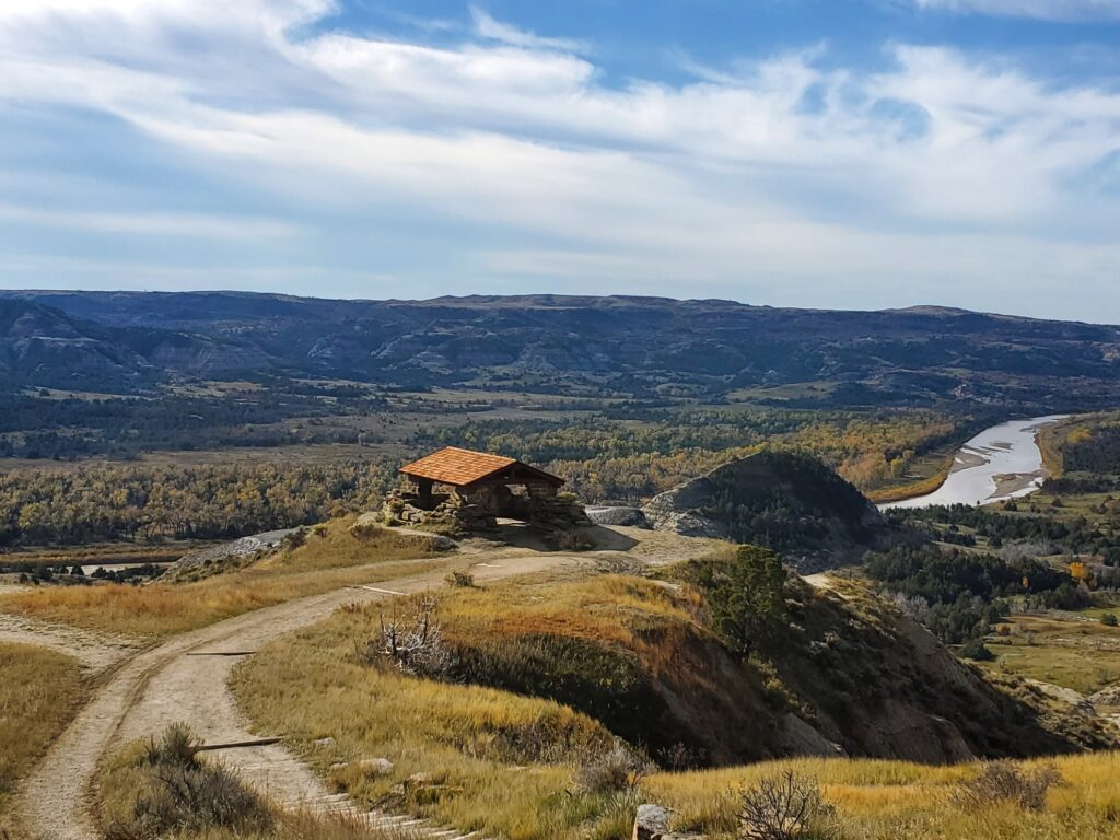 Beautiful landscape in Theodore Roosevelt National Park.