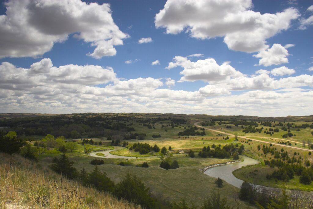 Beautiful landscape near Valentine, Nebraska.