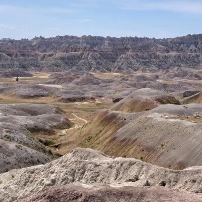 Beautiful landscape of Badlands National Park.