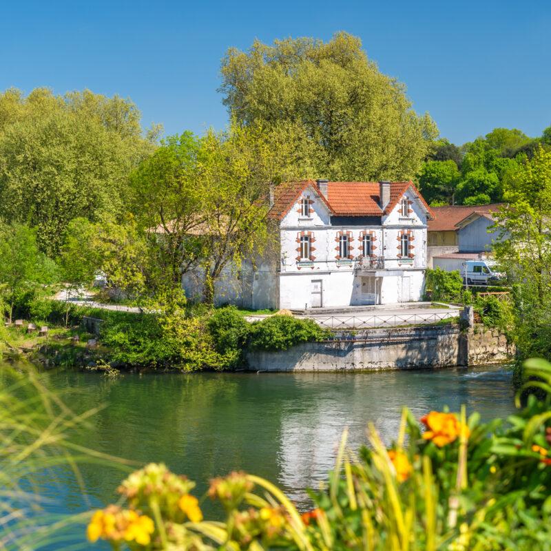 Beautiful landscape of Cognac, France.